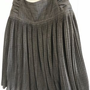 DONNA KARAN COUTURE Pleated Skirt